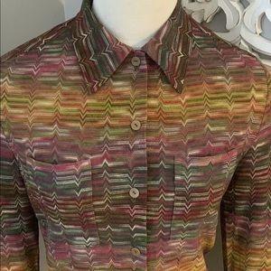 Missoni Chevron Print Top Shirt Blouse 4 / 40